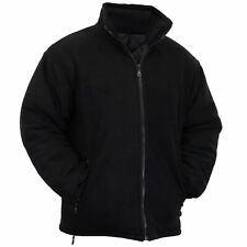 MENS EXTRA THICK FLEECE HEAVY DUTY WORK JACKET PADDED ANTI PILL WINTER BLACK