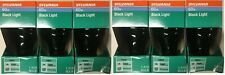 6 Pack Sylvania 60 Watt  Incandescent Black Light Bulbs Blacklight