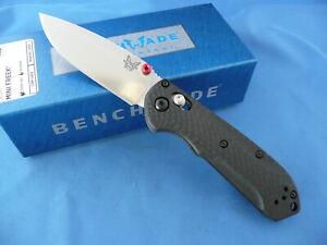 Benchmade 565-1 Mini Freek Knife Carbon Fiber CPM-S90V Stainless Plain Edge
