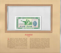 Most Treasured Banknotes Albania P 40a 1976 1 Lek UNC Low # GP005837