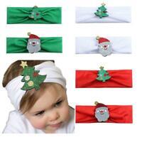 Baby Christmas Headband Girls Toddler Elastic Cartoon Wrap Xmas Hair Accessories
