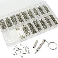 1000pcs Tiny Screws Nut + Screwdriver Watch Eyeglass Glasses Repair Tool Kits