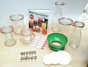 WECK Einkoch Deckel Glaszange Glasheber  Buch Trichter  Ringe Etiketten Klammen
