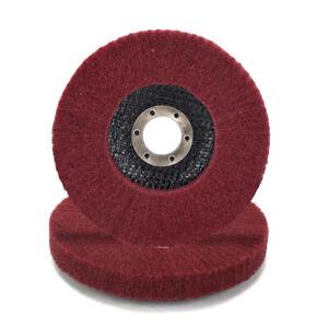 "125mm 5"" Nylon Fiber Flap Polishing Wheel Abrasive Buffing Pad for Angle Grinder"