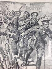 R3 Ephemera 1918 Book Plate Aisne 5th Infantry Cross The Bridge Under Fire
