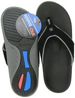 Spenco Men's PolySorb Yumi Nubuck Thong Orthotic Sandals - Black