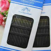12/24/48/60 pcs Self Threading Hand Needles Sewing Thread Assorted Needle Size