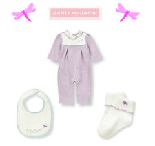 "Janie and Jack baby girl ""Petite Blooms"" Dragonfly outfit 3 Piece Set 3-6 m"
