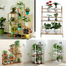 Wood/ Bamboo/Metal Shelf Flower Pot Plant Stand Rack Garden Indoor Outdoor Patio
