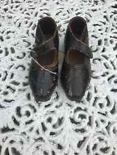 Pair Of Victorian Childs Leather Clogs