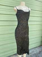 NWOT ZARA flowing SLIP DRESS Satin camisole leopard print S  9479 251  #4293