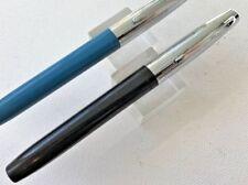 Black Sheaffer's Fountain Pen 1970s Hooded nib FINE! Flat ends. Writes!