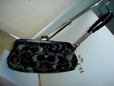 Coach Chenille Pleated Kisslock Fram Clutch Wristlet Bag 3584