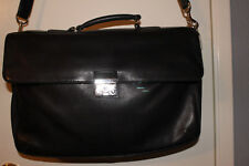 Coach Black leather briefcase No. 5307 Top handle w shoulder strap & keys
