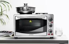 Laptronix 23L Mini Oven With Electric Hob Double Hotplate & Grill Baking Cooking