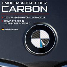 Carbon Silber oder Schwarz Emblem Aufkleber Ecken für BMW 1er 3er 5er 8er Ecken