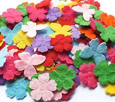 100 Misto Feltro Tessuto Applique Floreale Farfalla Decorazioni Card Making Craft