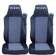 2 x Sitzbezüge Schonbezüge Bezüge Schwarz / Grau LKW VOLVO FH12 FH16 FL FM