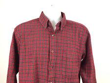 Pendleton Boys Dress Shirt Largeg Red & Green Squares 100% Pure Virgin Wool- VGC