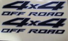 "Car OFFROAD 4x4 Black Matte/SILVER Decals 15"" for SUV Titan sticker CF717 2pcs"