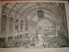 International Exhibition at Amsterdam 1869 print