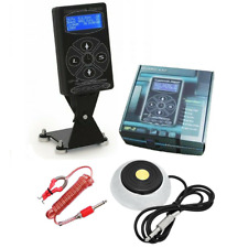 Tattoo Power Supply Set - Hurricane HP2 Deluxe Digital, Foot Pedal + Clip Cord