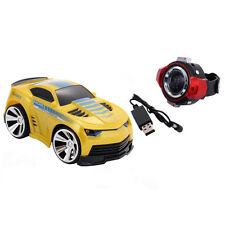 2.4G Voice Command Car Smart Watch Remote Control RC Racing Toy Car Yellow New