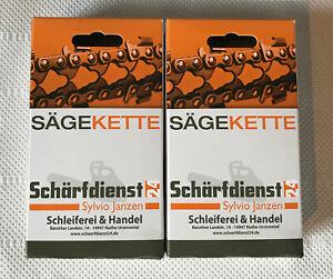 """2 x Kette Sägekette p. für Dolmar ES31A ES32 ES32A (3/8"""" 1,1 40TG 25cm) NEU!"""