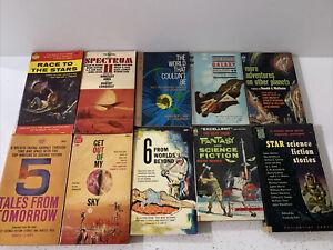 Lot Of 10 Vintage Science Fiction Paperback, Anthologies