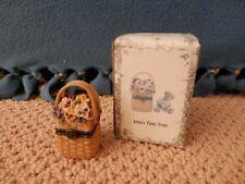 "Boyd's Bears and Longaberger Basket Treasure Box - ""Ima's Tiny Tote"""