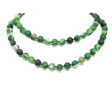 EXCEPCIONAL Bella Collar Ágata en forma de bola ø-10mm l-87cm color verde