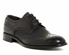MADE IN ITALY! AUTHENTIC $195 KENNETH COLE NEW YORK WINGTIP OXFORD SHOE BLACK 10