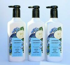 Bath & Body Works Lavender Coconut Creamy Luxe Hand Soap, (Set of 3)
