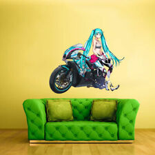 Full Color Wall Decal Sticker Anime Manga Moto Bike Biker Motorycle (Col348)