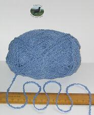 95g ball Blue Boucle 100% Pure British Breed Wool double knitting dk yarn EFW806