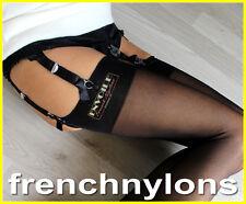 Envoile Black Seamless Stockings S/m/l 10 Denier Vintage Logo M