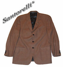 SANTORELLI SPORT JACKET BLAZER SILK & VIRGIN WOOL GIORGIO3 BROWN Sz 44 $629