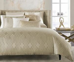 Hotel Collection Dimensions CHAMPAGNE Full / Queen Comforter $350