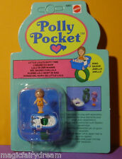 Polly Pocket Mini NEU ♥ Little Lulu's Bath Time Ring ♥ 1989 ♥ MOC ♥ NEW ♥