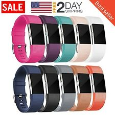 Fitbit CHARGE2SSWMIX10 Replacement Wristband for Fitbit Charge 2 Silicone Pack of 10