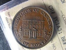 PC-1A3 ICCS MS-60 Halfpenny 1842 token Province of du Canada Montreal Breton 527