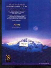 THAI AIRWAYS SERVING KATHMANDU,NEPAL SINCE 1968 MT EVEREST SAGARMATHA 2008 AD