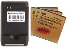 3X 2450mAh High Capacity Batteries + Charger for Samsung Galaxy S2 Epic 4G D710