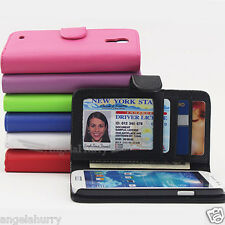 Premium Credit Flip Leather Case For Samsung Galaxy S4 SIV LTE 4G i9500 i9505