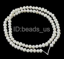 White Natural Potato Cultured Freshwater Pearl Strand Beads 3-4mm 13.7 Inch AUBE