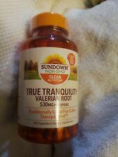 2 Sundown NON-GMO TRUE TRANQUILITY ~ VALERIAN ROOT 530 mg  100× 2= 200 Capsules