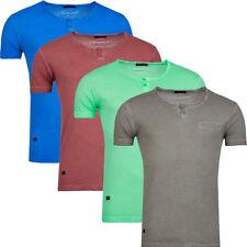 Herren T-Shirt Fitness Gym Slim Fit Stylish Rundhals Einfarbig Hot Club 4 Farben