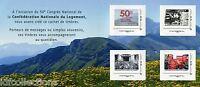 Bloc collector de 4 timbres adhésifs 50eme congrès Echirolles 2013