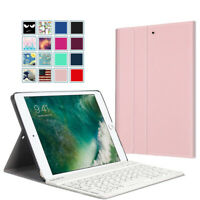 "For iPad 9.7"" 6th Gen 2018 /5th 2017/ Air 2/1 PU Leather Case+Bluetooth Keyboard"