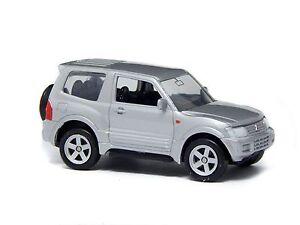 "Welly NEX Mitsubishi Pajero Pinin Silver 1:60 1:64 No. 52247 3"" inch Toy Car"